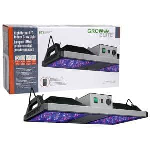 GrowElite Brushed Nickel Integrated LED 500-Watt High Output Indoor Grow Light Daylight 1000-Watt HID Replacement