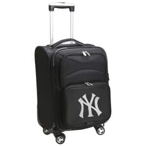 MLB New York Yankees 21 in. Black Carry-On Spinner Softside Suitcase