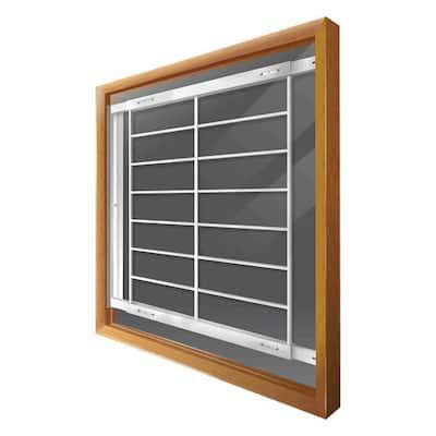 Swing-Away 42 in. to 54 in. Adjustable Width 8-Bar Window Guard, White