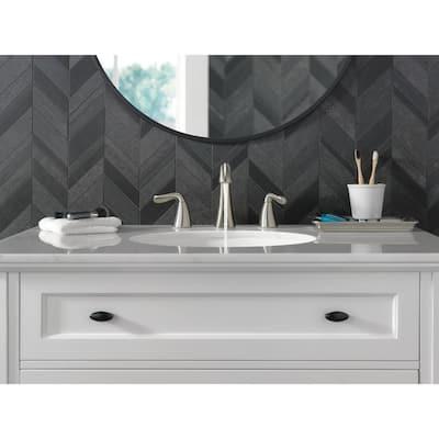 Arvo 8 in. Widespread 2-Handle Bathroom Faucet in Spotshield Brushed Nickel