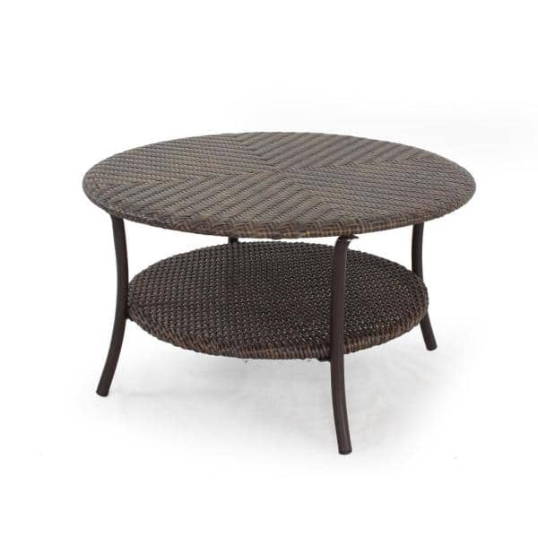Stylewell Mix And Match Brown 32 In, Woven Resin Wicker Outdoor Furniture