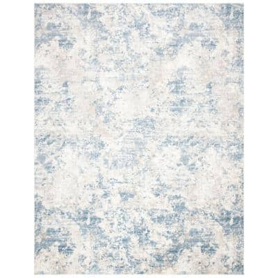 Amelia Gray/Blue 9 ft. x 12 ft. Abstract Area Rug