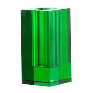 Green Glass Decorative Vase