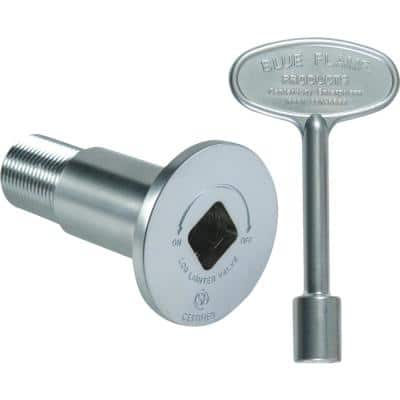 Gas Valve Flange and Key Kit in Satin Chrome