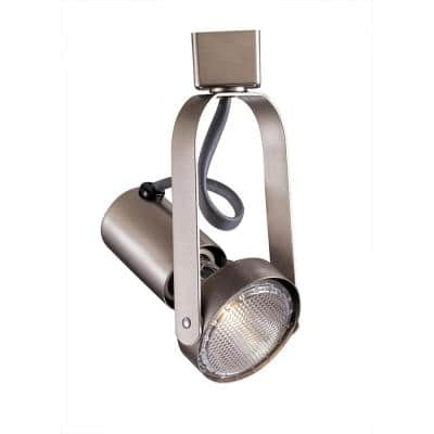 1-Light 50-Watt Brushed Nickel Line Voltage Track Head for H Track