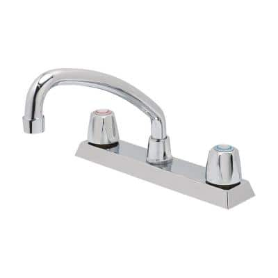 Basic-N-Brass Collection 2-Handle Standard Kitchen Faucet with Compression Cartridge in Chrome
