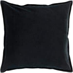 Velizh Black Solid Polyester 22 in. x 22 in. Throw Pillow