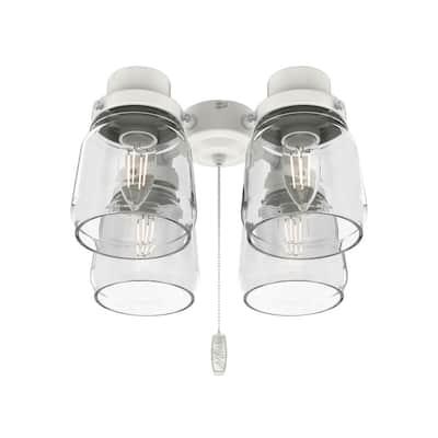 Original 4-Light White Ceiling Fan Shades LED Light Kit