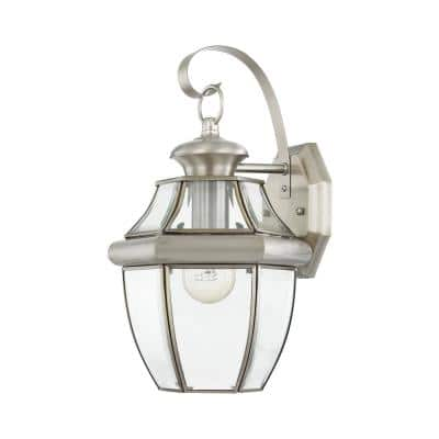 Monterey 1 Light Brushed Nickel Outdoor Wall Sconce