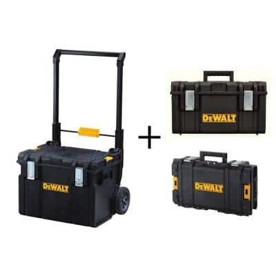 TOUGHSYSTEM 22in. Mobile Tool Box, 22 in. Medium Tool box and 22 in. Small Tool Box Combo (3-Piece Set)