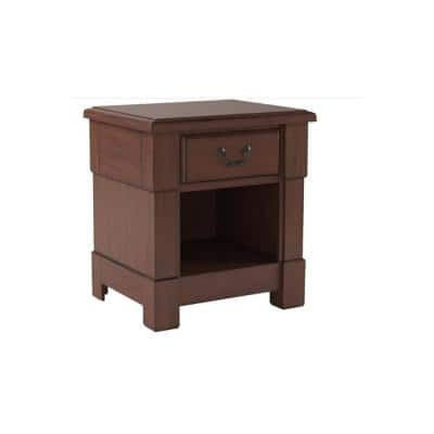 Aspen 1 Drawer Size: 22 in. x 18 in. x 24 in. Cherry Night Stand