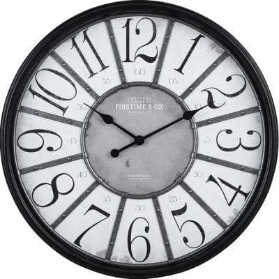 Black Anderson Farmhouse Clock