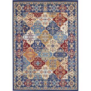 Grafix Multicolor 5 ft. x 7 ft. Persian Vintage Area Rug