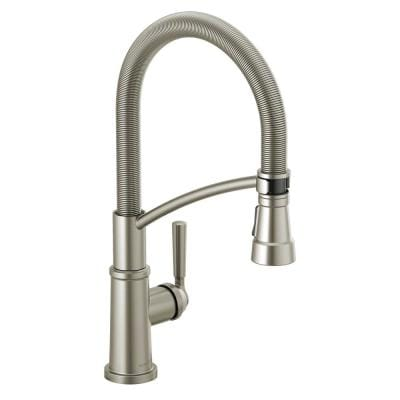 Westchester Single-Handle Pull-Down Sprayer Kitchen Faucet with Spring Spout in Stainless