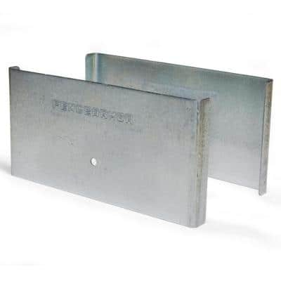 Galvanized Steel Demi Fence Post Guard 6 in. L x 3 in. H x .5 in. D for Wood or Vinyl