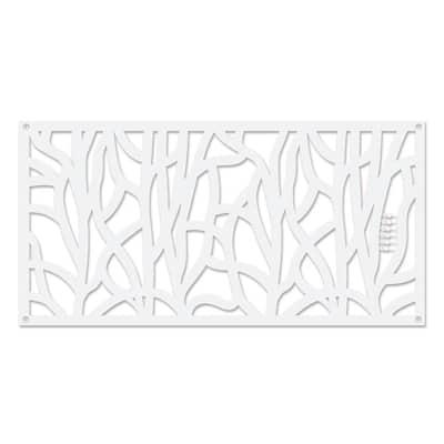 Willow 48 in. x 24 in. White Polypropylene Multi-Purpose Decorative Panel