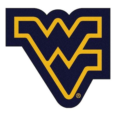 NCAA West Virginia University Navy Blue 3 ft. x 4 ft. Specialty Area Rug