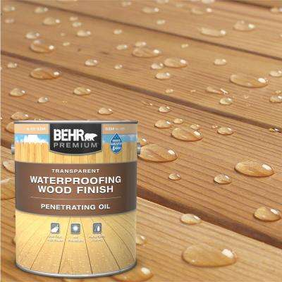 1 Gal. Transparent Penetrating Oil-Based Exterior Waterproofing Wood Stain Clear Tint Base