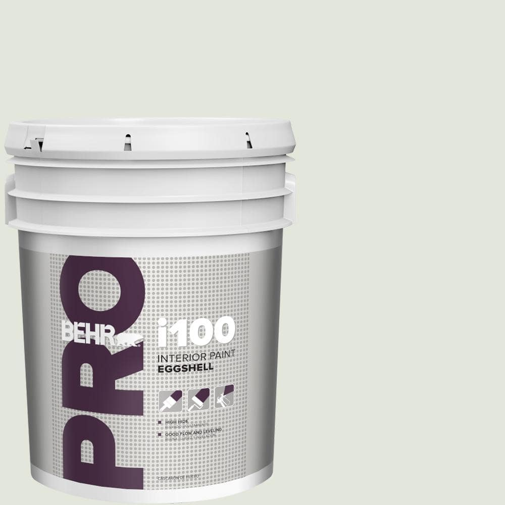 Behr Pro 5 Gal Bl W06 Whispering Waterfall Eggshell Interior Paint Pr13005 The Home Depot