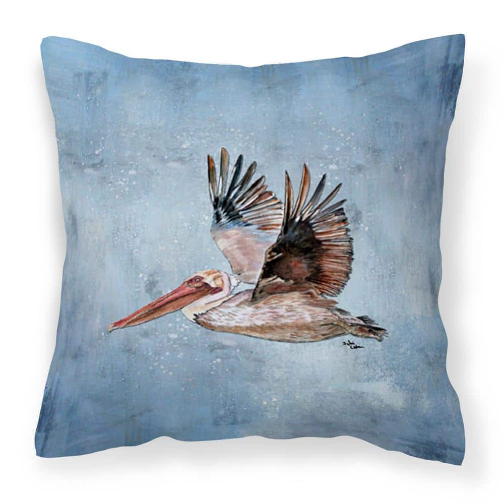 Caroline S Treasures 14 In X 14 In Multi Color Lumbar Outdoor Throw Pillow Bird Pelican Decorative Canvas Fabric Pillow 8506pw1414 The Home Depot