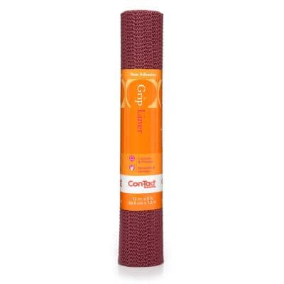 Grip Liner 12 in. x 5 ft. Berry Non-Adhesive Grip Drawer and Shelf Liner (6-Rolls)