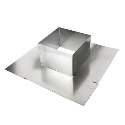 4 in. x 4 in. Split Pitch Pan with Open Bottom - Soldered
