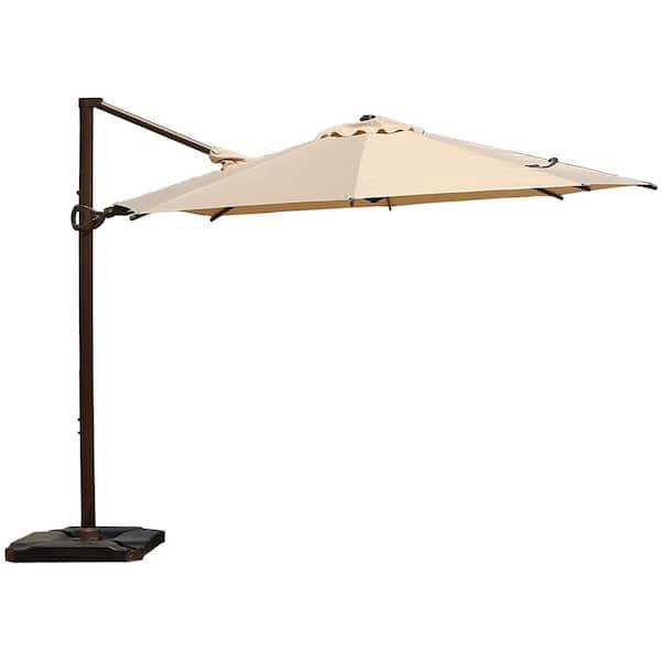Abba Patio 10 Ft 360 Degree Rotating, 10 Ft Cantilever Patio Umbrella