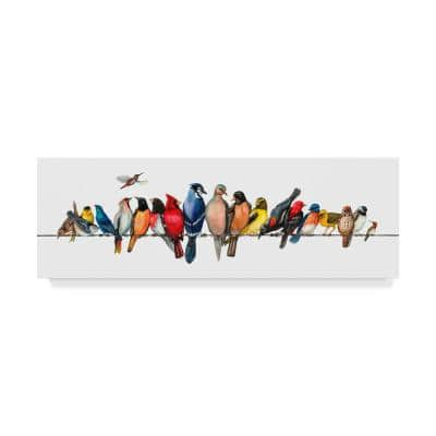 Large Bird Menagerie II by Wendy Russell Print Hidden Frame Animal Wall Art 10 in. x 32 in.