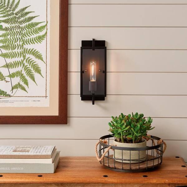 Home Decorators Collection Kenton 1 Light Vintage Bronze Wall Sconce Hb15016 310 The Home Depot