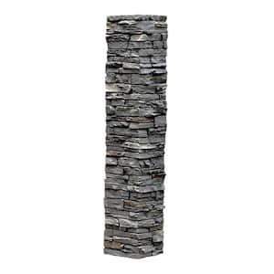 Slatestone 8 in. x 8 in. x 41 in. Rundle Ridge Faux Polyurethane Stone Post Cover