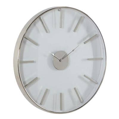 Silver Stainless Steel Wall Clock