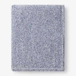 Sweatshirt Knit Navy King Reversible Blanket