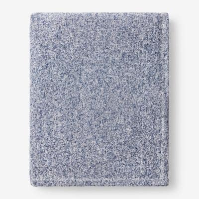Sweatshirt Knit Navy Twin Reversible Blanket