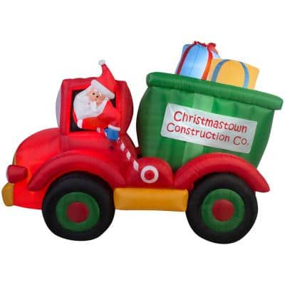 8 ft. W x 6 ft. H Inflatable Animated Dump Truck with Presents