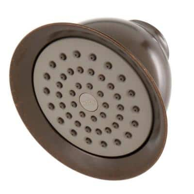 XL 1-Spray 4.4 in. Single Wall Mount Fixed Shower Head in Oil Rubbed Bronze
