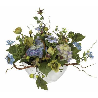 Indoor Hydrangea Centerpiece Silk Flower Artificial Arrangement
