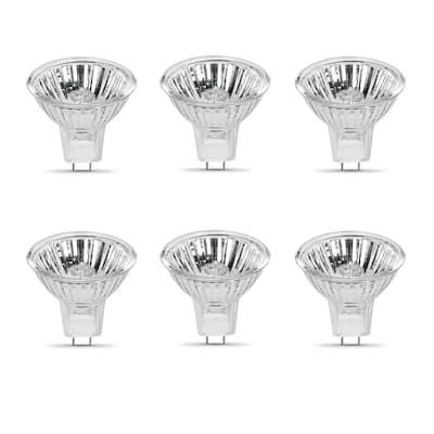10-Watt Bright White (2700K) MR11 G4 Bi-Pin Base Dimmable 12-Volt Halogen Light Bulb (6-Pack)
