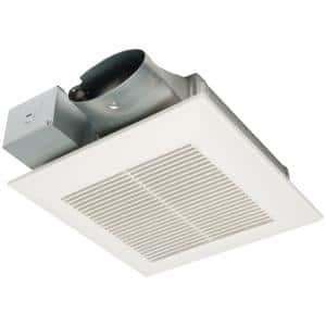 WhisperValue DC Pick-A-Flow 50, 80, or 100 CFM Ceiling or Wall, Very Low Profile Exhaust Fan with Condensation Sensor