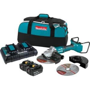 18-Volt X2 LXT Lithium-Ion (36V) Brushless Cordless 9 in. Paddle Switch Cut-Off/Angle Grinder Kit w Electric Brake 5.0Ah