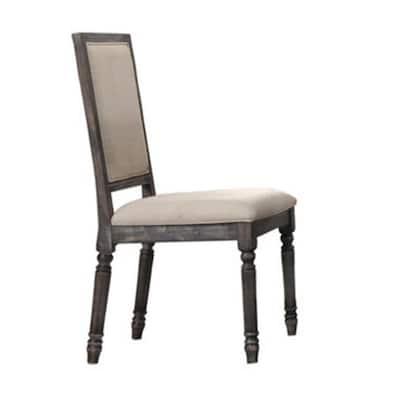 Lisa Smoked Grey Side Chairs (Set of 2)