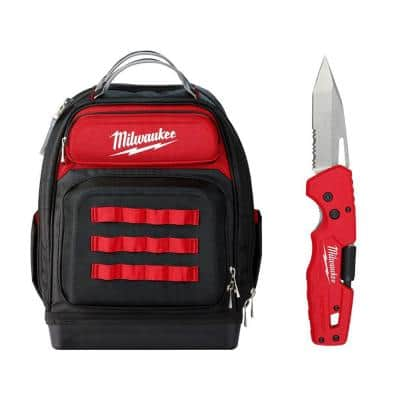 15 in. Ultimate Jobsite Backpack with 5-in-1 Folding Knife