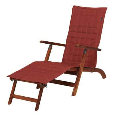 Montlake FadeSafe 69 in. L x 19 in. W Heather Henna Patio Steamer Chaise Slipcover