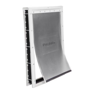 13-5/8 in. x 23 in. X-Large White Plastic Pet Door
