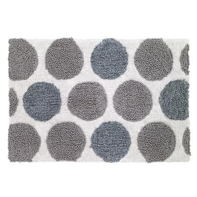 Dotted Circles 20 in. x 30 in. Bath Rug in Multicolor