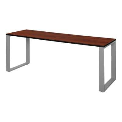 Structure 72 in. x 24 in. Cherry/Grey Training Table