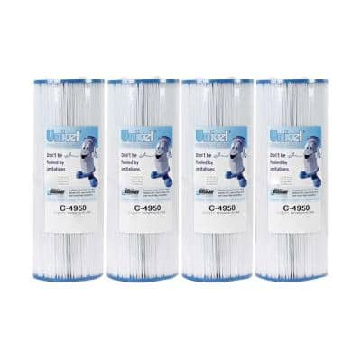 50 sq. ft Pool/Spa Filter Replace Jacuzzi Cartridge (4-Pack)