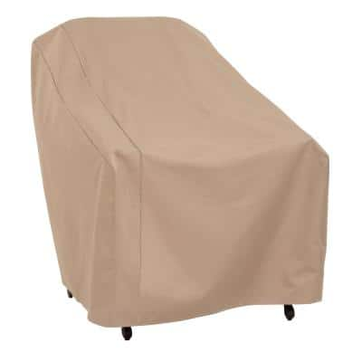 Basics Water Resistant Outdoor Patio Chair Cover, 33 in. W x 34 in. D x 31 in. H, Beige