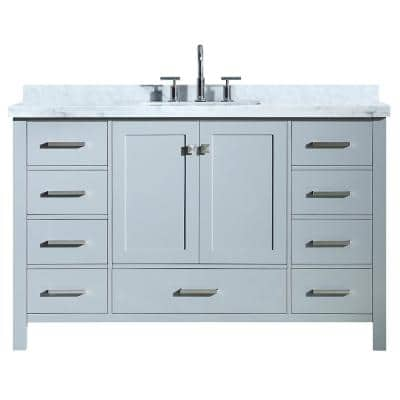 54 Inch Vanities Bathroom Vanities Bath The Home Depot
