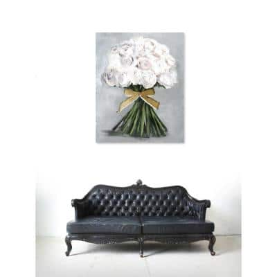 """20 in. H x 24 in. W """"Wonderful Light Bouquet"""" by """"The Oliver Gal Artist Co."""" Printed Framed Canvas Wall Art"""