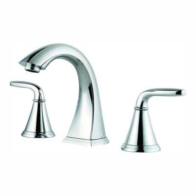 Pasadena 8 in. Widespread 2-Handle Bathroom Faucet in Polished Chrome